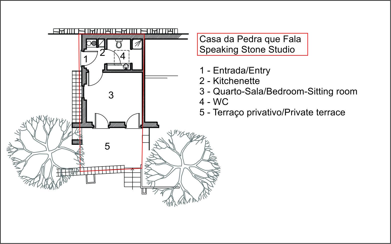 Casa da Pedra que Fala - Planta