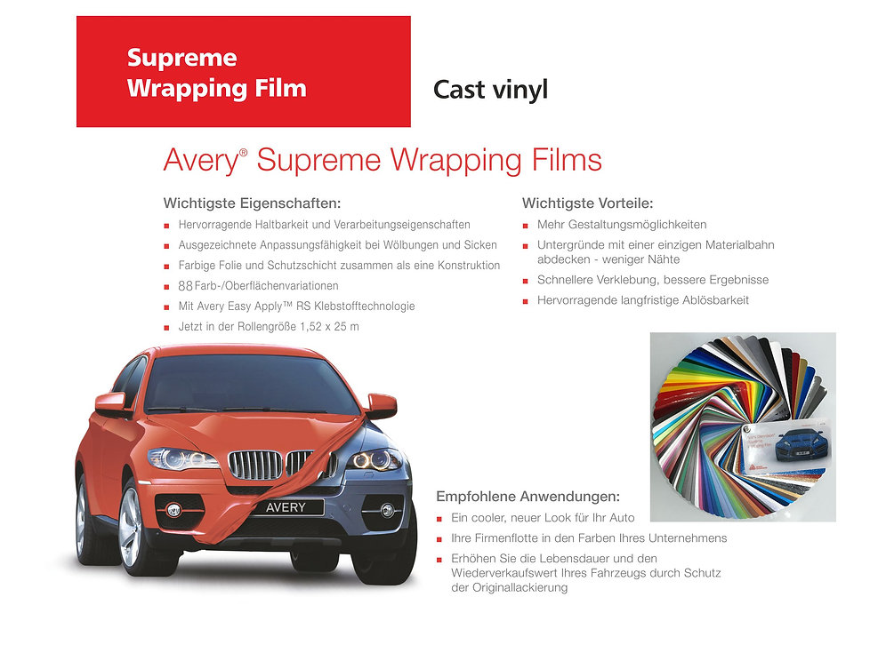 Avery Supreme Wrapping Films