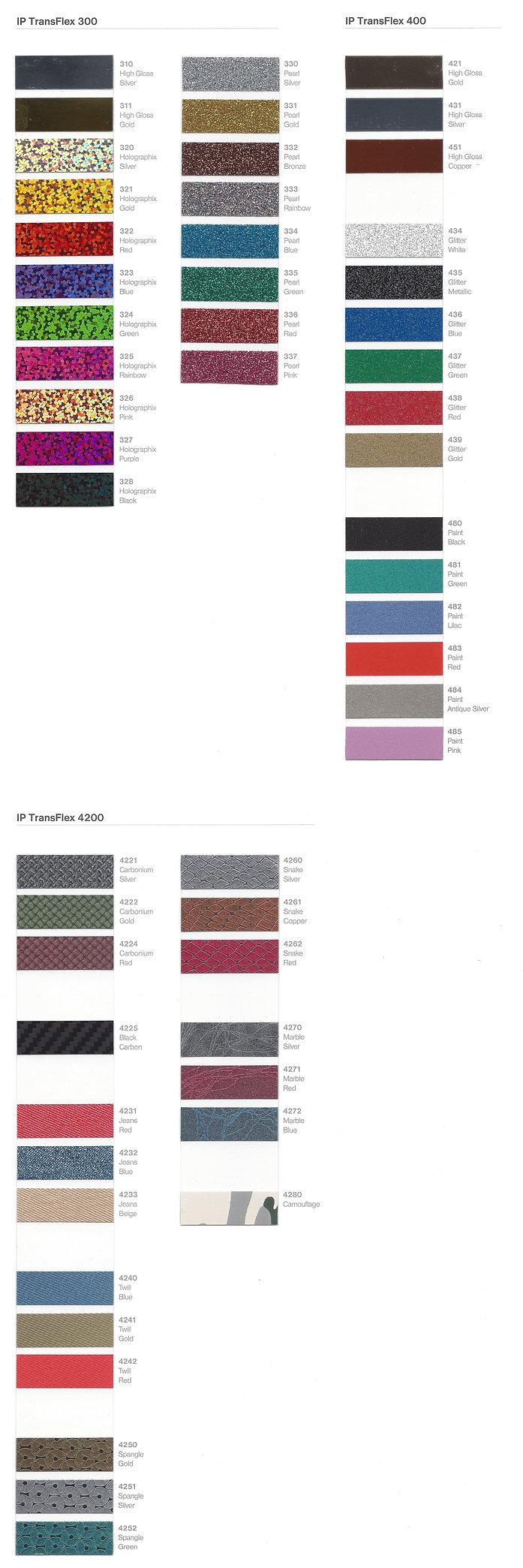 IP Transflex 300 / 400 Folien Fashion