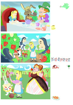 Alice in Wonderland page 3