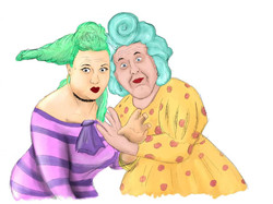 The Ugly Sisters (Sally Mathias and Phil Loveless)
