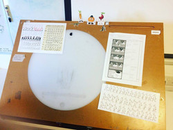 Traditional Animation work station