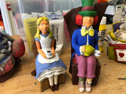Alice and Hatter repainted