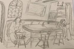 Pub tavern seating