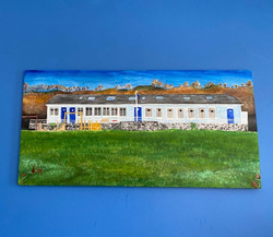 The Gorwellion House and Campsite painting