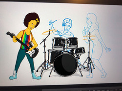 Queens of Space band - animation test