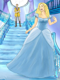 Cinderella (Ruby Atlanta Boland) and Prince Charming (Matthew Lee)