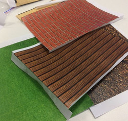 Printing textures for set building