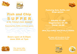 Fish & Chip flyer used in the background