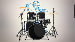 """Dorothy """"Cleo"""" King on the drums"""