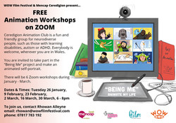 Mencap Ceredigon Animation Workshops