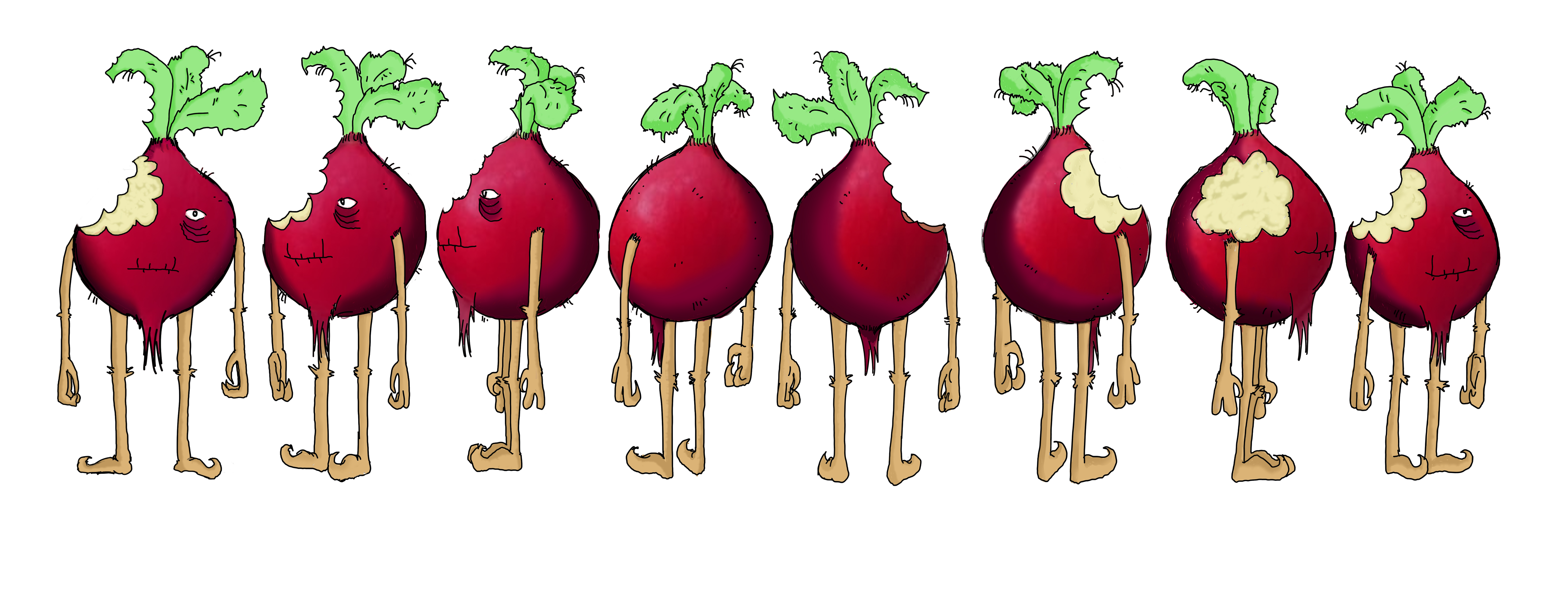Rodney the Radish - texture and detail