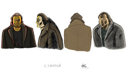 Cybrock - different pencil style (colour)