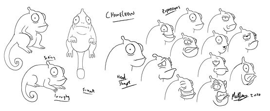 Chameleon character expressions