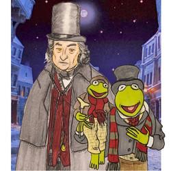 Ebenezer Scrooge and Kermit the Frog