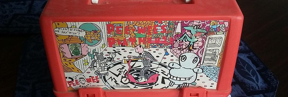Vintage Pee Wee's Playhouse plastic lunchbox