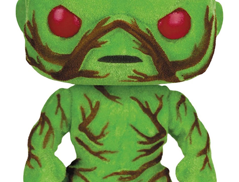 Funko - Figurine DC Heroes - Swamp Thing Flocked Exclu Pop 10cm
