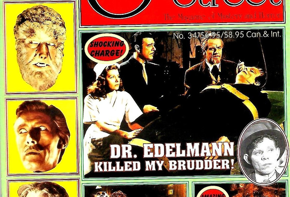 SCARLET STREET Horror Movie Magazine #34 NM House of Frankenstein Dracula