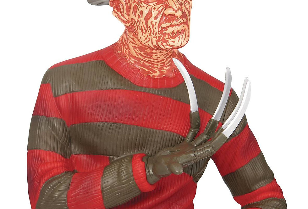 NIGHTMARE ON ELM STREET FREDDY KRUEGER PVC BUST BANK