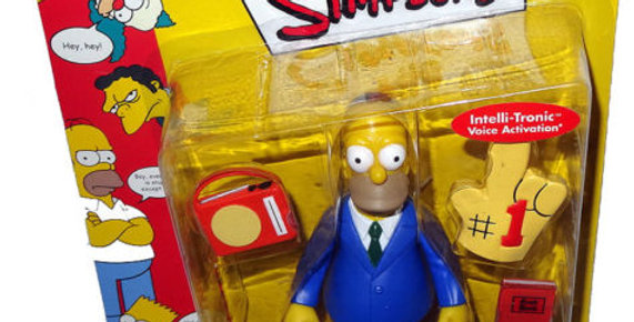 Simpsons Sunday Best Homer Action Figure WOS MOC Series 3 RARE Intelli-Tronic