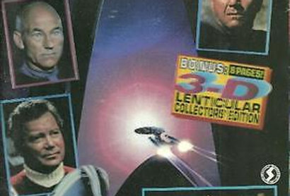 Star Trek:Generations Official Movie Magazine-Starlog- 74 Pages-Lenticular Cover