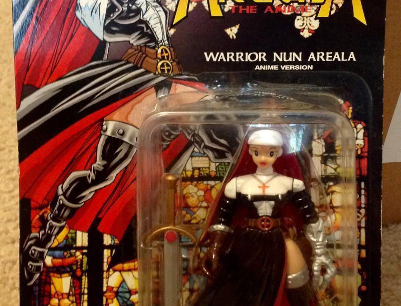 Areala 1997 Warrior Nun Anime Version Black Variant MOC Antarctic Press