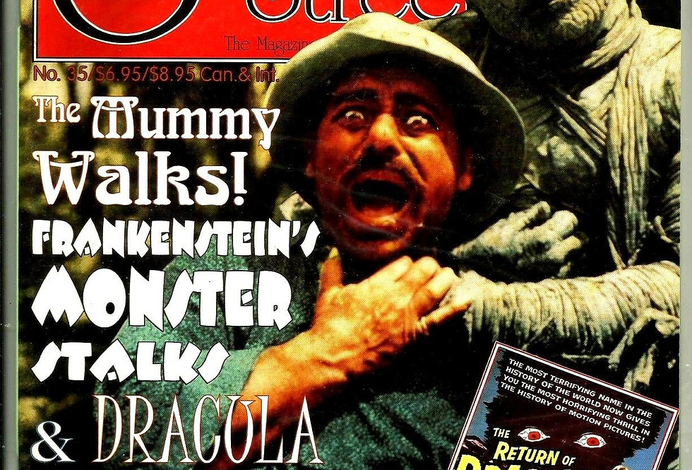 SCARLET STREET Horror Movie Magazine #35 NM Mummy Frankenstein Dracula