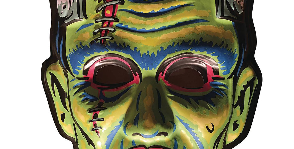 GHOULSVILLE DAY-GLO SON OF FRANKIE VAC-TASTIC PLASTIC MASK