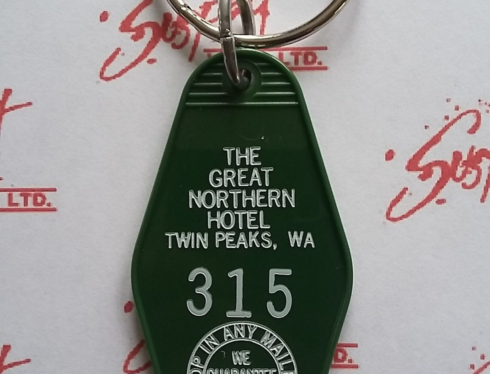 Twin Peaks Great Northern Hotel Keychain