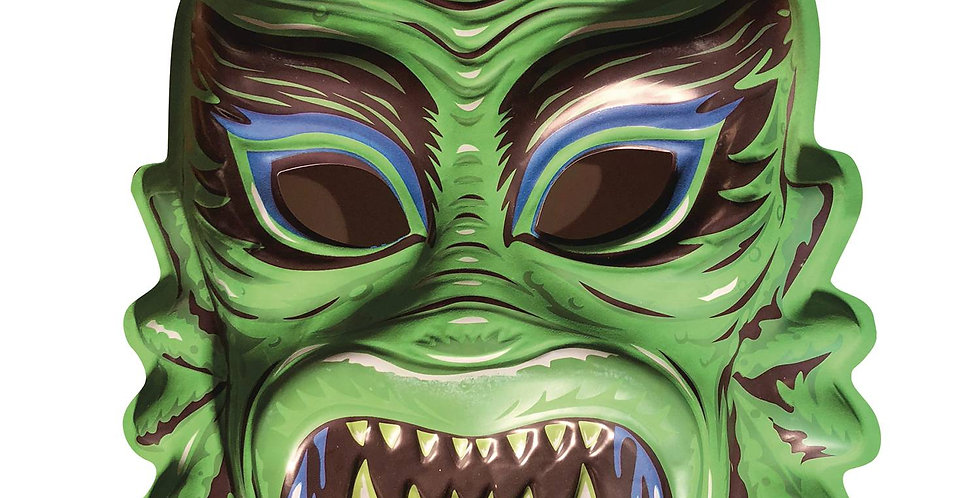 GHOULSVILLE DAY-GLO GILL CREEP VAC-TASTIC PLASTIC MASK
