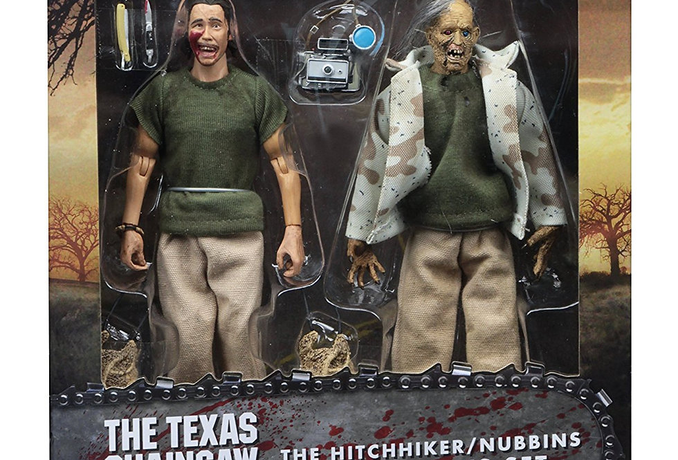 "NECA 8"" Clothed Action Figures – Nubbins Sawyer Collector's Set Texas Chainsaw M"