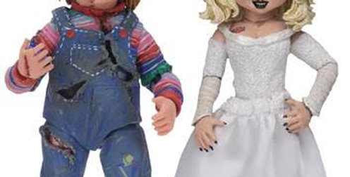 BRIDE OF CHUCKY ULTIMATE CHUCKY & TIFFANY 7IN SCALE AF 2PK