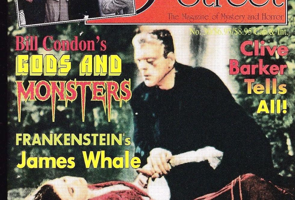 SCARLET STREET magazine # 30, Frankenstein James Whale, Clive Barker, Zacherley