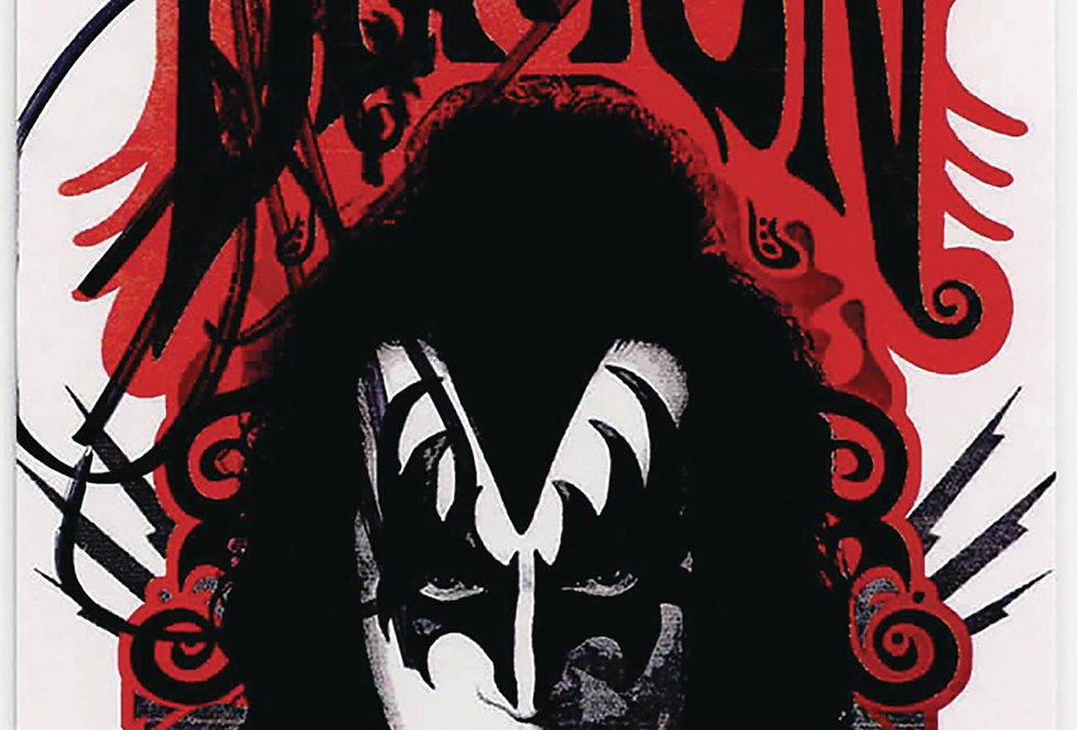 GENE SIMMONS PAUL STANLEY SGN KISS BOX TOPPER CARDS