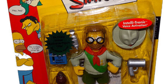 Simpsons Scout Leader Flanders Action Figure WOS MOC Series 10 Intelli-Tronic