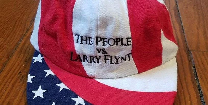 RARE 1996 THE PEOPLE VS LARRY FLYNT MOVIE PROMO HAT - WOODY HARRELSON HUSTLER