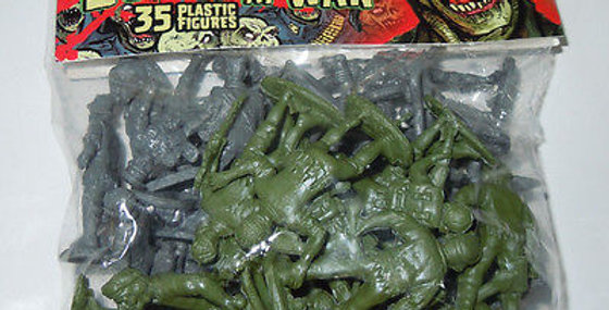 Zombies At War Army Men Bag Of 35 Plastic Figures