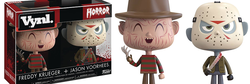 VYNL HORROR FREDDY & JASON VINYL FIGURE 2PK