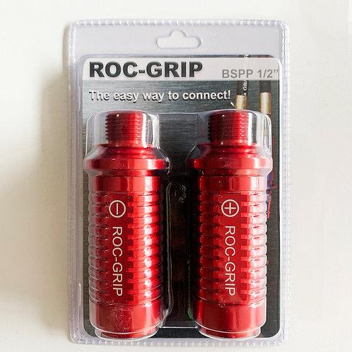 "ROC-GRIP 1/2"" BSPP Red Set of 2"