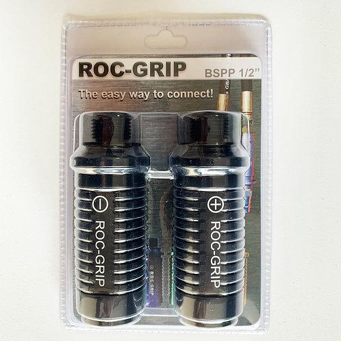 "ROC-GRIP 1/2"" BSPP Black Set of 2"