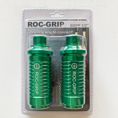 "ROC-GRIP 1/2"" BSPP Green Set of 2"