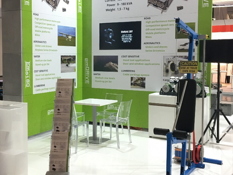 EMSISO presenting its emDrive product line at Electric&Hybrid Vehicle Tech Expo 2018