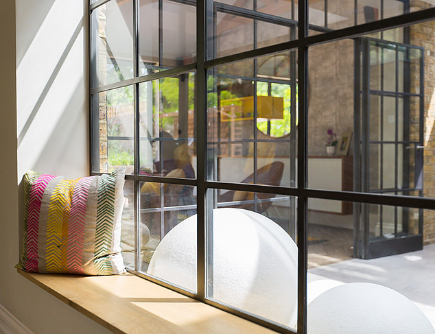 Crittall windows with window seat Ealing
