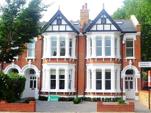 New build replica Victorian house Ealing