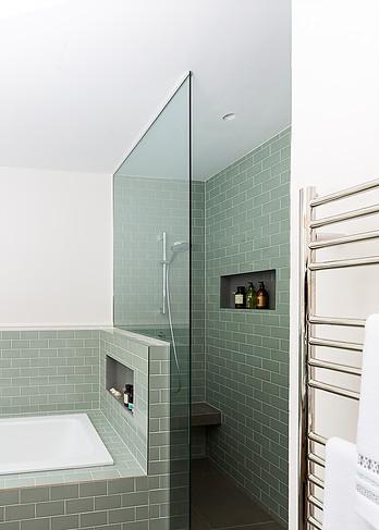 Walk in glass shower Ealing