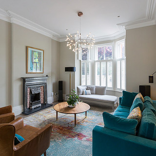 High ceiling living room interior design