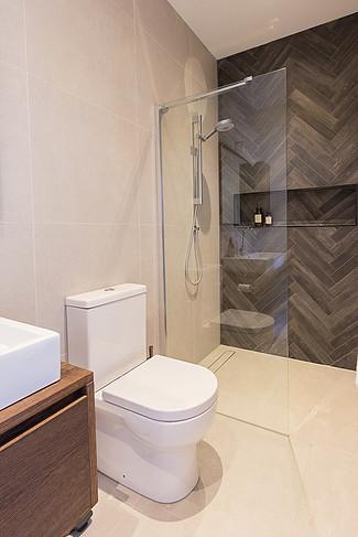 Feature bathroom wall tiles Ealing