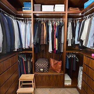 Bespoke walk in wardrobe joinery Ealing