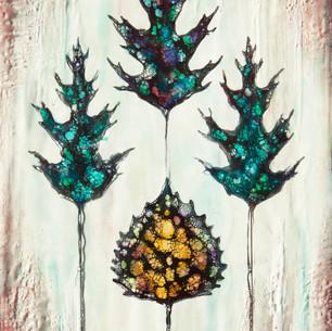 Aspen and Oak Leaves