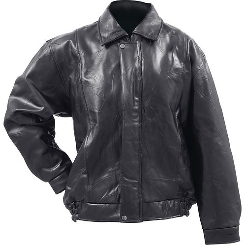 New. Design Genuine Buffalo Leather Bomber Jacket